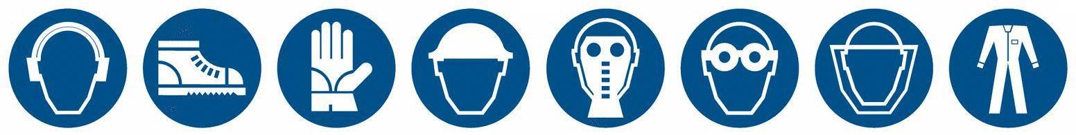 antinfortunio dispositivi protezione sicurezza pittogrammi