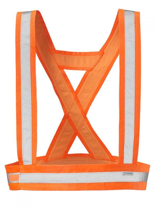 Bretelle alta visibilità arancione fluo
